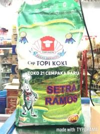 Beras Cap Topi Koki Setra Ramos 10KG |FULL Asli Slyp Putih 10 KG Murah