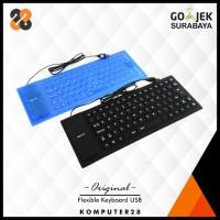 Flexible Silicone Keyboard - Portable, Bisa Digulung, Anti Air,