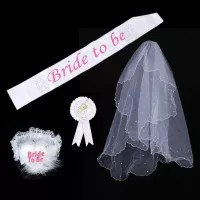 4 in 1 party set bridal shower wedding bride to be