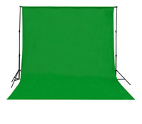 Backdrop Background Foto Hijau Polos 200 x 300 Cm Green Screen Tebal