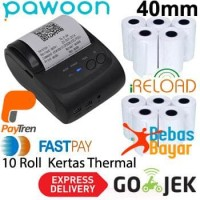 Zjiang Bluetooth Printer ZJ-5802 + Kertas Thermal 10 Roll