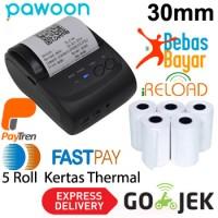 Zjiang Bluetooth Printer ZJ-5802 + Kertas Thermal 5 Roll 30mm