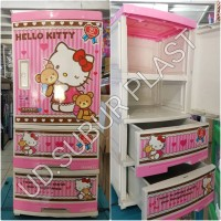lemari plastik lemari pakaian plastik/ laci plastik serbaguna HK ssn 4
