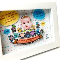 Bingkai Doodle Art Monsters Pop Up Frame Birthday Portrait