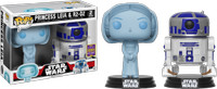Funko Pop- Star Wars- Holographic Princess Leia And R2-D2- SDCC 2017