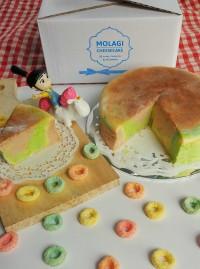 Rainbow Japanese Cheese Cake