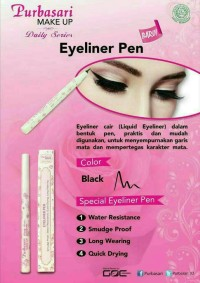 Eyeliner Purbasari PEN Daily Series / Purbasari Eyeliner PEN Waterproo