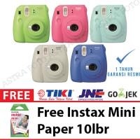 Fujifilm Instax Mini Kamera Polaroid 9 - FREE REFILL PAPER 10lbr