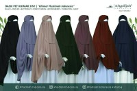 Basic Pet (Ukuran M) - Khimar Niqab Cadar Tali - Khadijah Indonesia