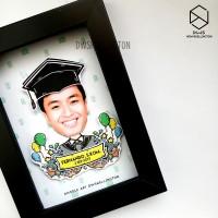 Bingkai Ucapan Wisuda Doodle Art Pop Up 3D Frame Graduation