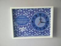 Hiasan jam dinding kaligrafi custom doa pernikahan untuk kado wedding