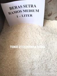 Beras Setra Ramos Medium 1 Liter | Pulen Sedang Enak Murah 1Liter 1L L