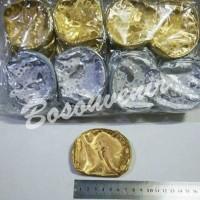 souvenir dompet emas silver