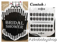 Bunting flag bridal shower / banner bridal shower termurah
