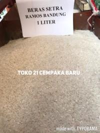 Beras Setra Ramos Bandung Super 1 Liter | Putih Murah 1Liter 1L 1 L