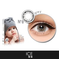 SOFTLENS KOREA SOFTLENSE X2 ICE N8 GREY BIG EYES 16MM BISA MINUS
