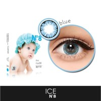 SOFTLENS KOREA SOFTLENSE X2 ICE N8 BLUE BIG EYES 16MM BISA MINUS