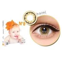 SOFTLENS KOREA SOFTLENSE X2 ICE N8 HAZEL BROWN BIG EYES 16MM MINUS