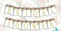 BRIDAL SHOWER FLAG BANNER