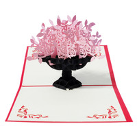 harga Outerbloom pink blossom 3d card Tokopedia.com