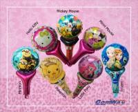 Balon foil tongkat / Balon Ulang Tahun / Balon karakter