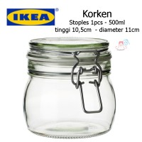 Ikea Korken - Stoples dgn penutup 500ml - jar with lid / toples kaca