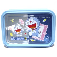 LUNCHBOX / LUNCH BOX SEKAT-2 DORAEMON BPA FREE (SIZE BESAR)