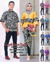 Batik Couple Kebaya / Sarimbit Sania Rufle