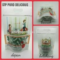 Standing pouch cookies klip pond motif happy life (M) 5lbr