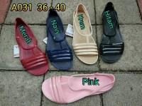 A031pls sandal wanita flat karet jelly luofu sendal wanita murah