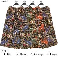 Celana Kulot JUMBO Bahan Katun Motif Batik Berkaret Full Dipinggang