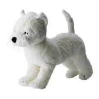 GO SEND  IKEA RUFFIG Boneka anjing putih, panjang 40 cm