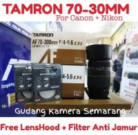Lensa Tamron 70-300mm for Nikon/Canon (free lens hood+ UV filter)