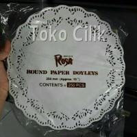 dolley/paper/bulat/25cm/alas/renda/kue/piring/kertas/paper/tutup/botol