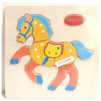 harga Puzzle kayu mini timbul kuda / mainan edukatif Tokopedia.com
