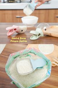 Promo   Sendok Beras Takar Dengan Jepitan karung tepung model Animal