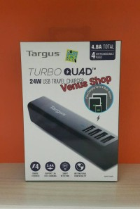 TARGUS TRAVER CHARGER TURBO QUAD USB 24W / FAST CHARGING USB 4 PORT
