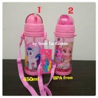 Tempat Botol Minum Anak Cewek Little Pony Frozen 450ml Bekal Sekolah