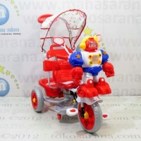 harga Family f845ft suspensi musik dobel robot & bintang sepeda roda tiga Tokopedia.com