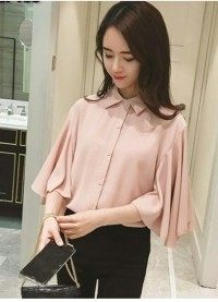 [Gita peach RO] blouse wanita twiscont salem