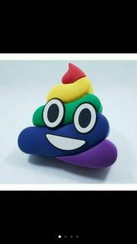 powerbank karakter / power bank poop / power bank emoji poop rainbow
