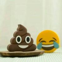 power bank karakter / powerbank poop / power bank emoji poop / smile