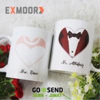 Mug Couple Bride Groom 2 (Hadiah Pernikahan)