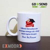 Mug Kado Wisuda Custom Nama dan Ucapan
