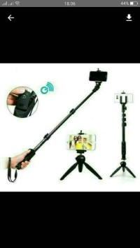 paket selfie yunteng tongsis bluetooth yt-1288+mini tripod yt 228