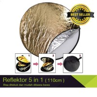 Reflektor Portabel / Portable Reflector 110cm 5 in 1 Studio Fotografi