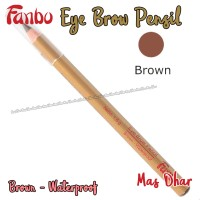 Pensil Alis Fanbo Cokelat Waterproof Tahan Air NMA017