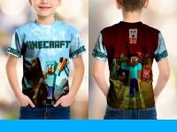 Kaos Baju Anak Fullprint Custom Minecraft 6