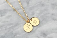 Bauble Bible Pax Monogram Necklace Perhiasan Kalung Inisial Lapis Emas