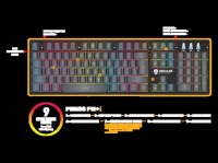 ORIGINAL - REXUS K9 RGB FORTRESS BACKLIT FLOATING KEYS GAMING KEYBOARD